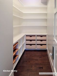 To make the pantry more organized you need proper kitchen pantry shelving. There is a lot of pantry shelving ideas. Here we listed some to inspire you Deep Pantry Organization, Kitchen Pantry Storage, Pantry Room, Pantry Shelving, Kitchen Pantry Design, Pantry Closet, Kitchen Pantry Cabinets, Closet Storage, Organized Pantry