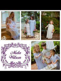 Beautiful Children in Mela Wilson Heirloom Clothing.