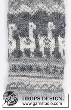 Men's knitted socks with llama / alpaca and multicolored Nordic pattern. The piece is worked in DROPS Fabel. Knitting Charts, Lace Knitting, Knitting Patterns Free, Knitting Socks, Sewing Patterns, Crochet Socks, Knitted Hats, Knit Crochet, Drops Design