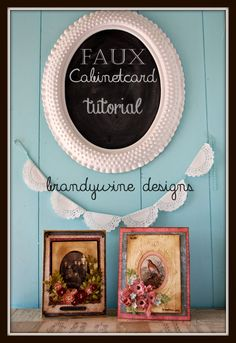Faux Vintage Cabinet Card Tutorial using embossing folders and oval dies.
