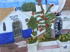 Obra propia. Óleo sobre lienzo. 61X46 cm. Viejos bares de mi pueblo. Barbate. Cádiz.