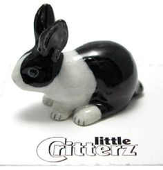 Little Critterz LC712 - Black & White Bunny