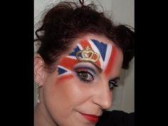 Union Jack Fashion Makeup (part 2)