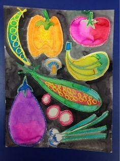 Mrs. Knights Smartest Artists: watercolor vegetables (Miroco Machiko) by amparo