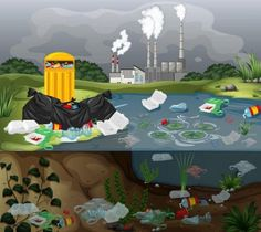 Global Warming Project, Global Warming Poster, Water Pollution Poster, Paar Illustration, Sequencing Pictures, Aquatic Ecosystem, Nurse Art, Plakat Design, Environmental Pollution