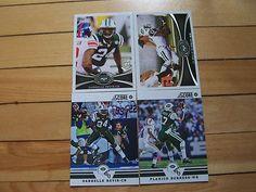 PLAXICO BURRESS DARRELLE REVIS 2012 Topps 2012 Score Lot of (4) Base Cards Jets