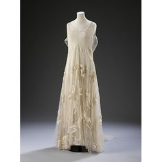 Place of origin:France (made)  Date:1935 (made)  Artist/Maker:Madeleine Vionnet, born 1876 - died 1975 (designer)  Materials and Techniques:Organza, tulle and silk velvet  Credit Line:Purchased with support from The Art Fund and an anonymous donor  Museum number:T.380-2009  Gallery location:In Storage