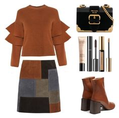 """""""Style #411"""" by maksimchuk-vika ❤ liked on Polyvore featuring M.i.h Jeans, Acne Studios, Prada, Chanel, Yves Saint Laurent and Guerlain"""