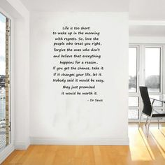 Dr seuss life's to short wall art ,decal,quote,sticker,stickers,vinal,wa101 | eBay