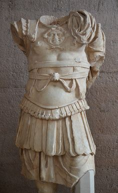 Statue of a man in armor, from the Julian Basilica, 40–52 AD, Archaeological Museum of Ancient Corinth, Greece | F