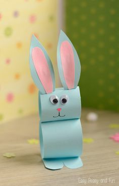 Paper Bunny Craft - Easy Easter Craft for Kids to Make #craftsforkidstomake