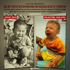 Hiroshima and Gaza* Stop the United States of Israel, separate these two nations so we can have our own way of life back before 9/11 Israel blaming Muslims wrongfully  made USA into a POLICE STATE at war in Mideast *