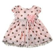 Polka Dot Knit Dress (0-9m)