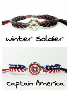 Steve Rogers, Winter Soldier, Marvel Clothes, Marvel Shoes, Bucky And Steve, Micro Macramé, Bijoux Diy, Cute Jewelry, Jewlery