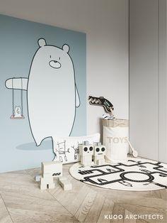 Nursery Wall Murals, Kids Wall Murals, Gray Interior, Interior Design Living Room, Cool Kids Rooms, London House, Kid Spaces, Kids Bedroom, Room Decor