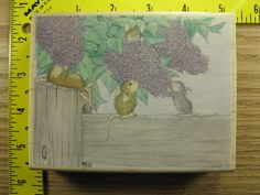 Stampinsisters Rubber Stamp House Mouse Aromatherapy Stampabilities #1803 #Stampabilities
