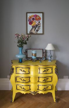 Matthew Williamson's home features in this month's Living Etc magazine with a… Decor, Interior, Home, Eclectic Interior, Modern White Bathroom, Living Etc, Yellow Furniture, Living Etc Magazine, Interior Design