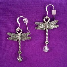 Dragonfly Earrings  on sterling earwires by AnnPedenJewelry, $8.99