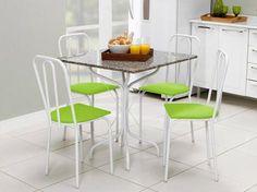Conjunto de Mesa Jade e 4 Cadeiras Lyon - Metalmix