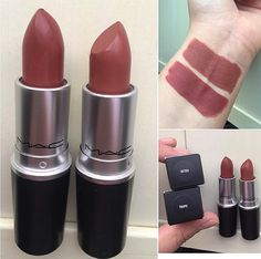 Love these great mac makeup collection Pic# 7092 Mac Lipstick Shades, Mac Lipstick Swatches, Lipgloss, Makeup Swatches, Makeup Dupes, Skin Makeup, Makeup Lipstick, Makeup Cosmetics, Mac Lipstick Colors