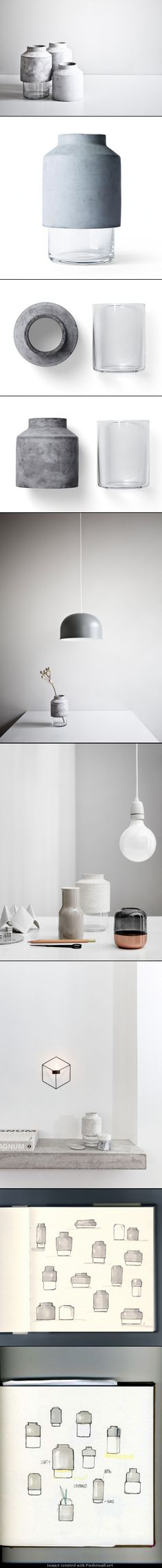 Concrete vase | Concrete product design | Cement | WIllman design | Beton design…