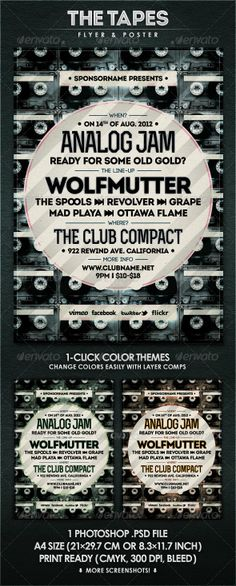 The Tapes - Flyer & Poster - GraphicRiver Item for Sale