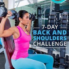 Take the 7 Day Back & Shoulder Challenge #backworkout #shoulderworkout