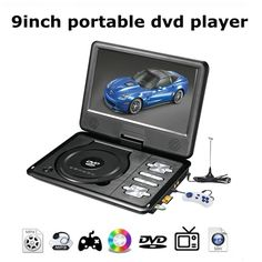 59.00$  Watch now - http://aliuol.worldwells.pw/go.php?t=32742041056 - 2016 Newest portable 9 Inch DVD player with rotatable screen, game and TV function, use at home, car, support CD player, MP3/MP4