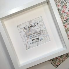 Handmade cards and gifts for special occasions, made in the UK New Home Cards, New Home Gifts, Personalised Gifts Handmade, Moving Home, Framed Maps, Fathers Day Cards, Special Gifts, Anniversary Gifts, New Baby Products
