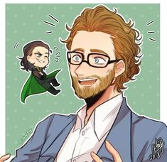 Oh my god this so cute! Loki Art, Thor X Loki, Marvel Actors, Marvel Characters, Marvel Avengers, Bucky Barnes, Marvel Fan Art, Loki Laufeyson, Tom Hiddleston Loki