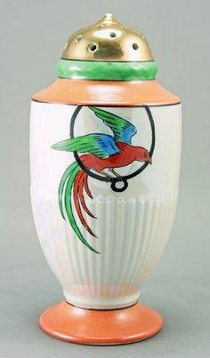 Noritake Art Deco Lustre Sugar Shaker from amyantiq on Ruby Lane