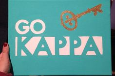 Go Kappa canvas by sororitycanvases on Etsy, $20.00