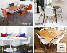Tanta dúvida na hora de escolher mesa de jantar: forma, tamanho, material, com pé, base central? Não é assim tão complicado, nesse post eu te ensino como.