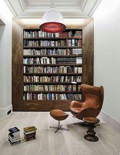 Biblioteca moderna y con estilo