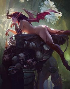 Prepare to be transported to the astonishing fantasy worlds created by concept artist and illustrator Bayard Wu. Bayard Wu has an impressive body of work and an… Dark Fantasy, Fantasy Women, Fantasy Rpg, Fantasy Girl, Fantasy Artwork, Fantasy Creatures, Mythical Creatures, Rpg Dice, Character Art
