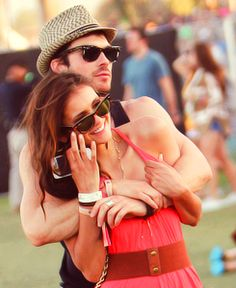They are just so lovely... Nina Dobrev and Ian Somerhalder at coachella 2012. Aweeeeeeeeeeee.