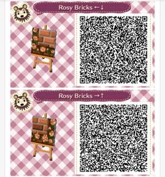 Horray more rosy brick path! For animal crossing
