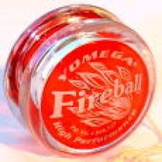YOMEGA Fireball Yo-Yo. FIREBALL Transaxle Yo-Yo. Patented Transaxle system with low-friction axle sleeve spins more than 3 times longer than ordinary Yo-Yos. The Fireball helps players progress quickly to tricks of greater difficulty. For beginners & intermediate players. Made in USA. Includes 5 extra strings. Colors may vary from photo.