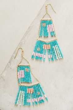 How to Make Beachy Boho Beaded Hoop Earrings Chandelier Earrings, Tassel Earrings, Women's Earrings, Statement Earrings, Fashion Earrings, 30 Gifts, Gifts For Mom, Jewelry Accessories, Jewelry Design