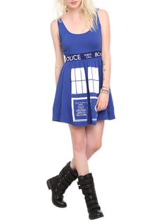 Doctor Who Her Universe TARDIS Costume Dress | Hot Topic - Saw this at the mall a few days ago.  I NEED IT!