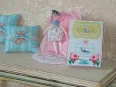 Dollhouse Tilda Doll in gift box RF-2 . 1:12 miniature Tilda collection for Dollhouses.