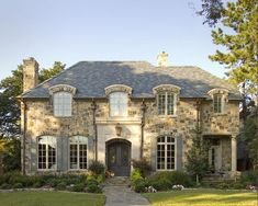 French Normandy style in Dallas.: