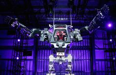 Jeff Bezos piloting a giant robot