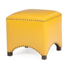Yellow Ottomans on Hayneedle - Yellow Footstool