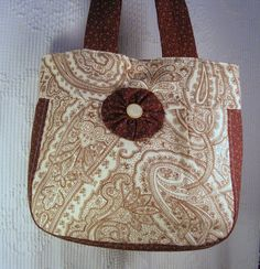 Brown Paisley Purse/Bag with Matching Checkbook Cover by JoyAnna, $48.50