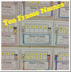 """Here's a ten frame form for completing a """"Name in a Ten Frame"""" activity."""