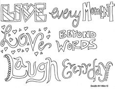 All Quotes Colouring Pages @ Doodle Art Alley | Jade ideas ...