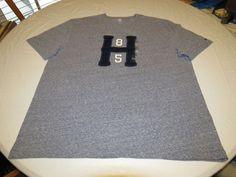 Men's Tommy Hilfiger T shirt NWT sleeve logo XXL 7885097 Core Navy 490 heather #TommyHilfiger #BasicTee