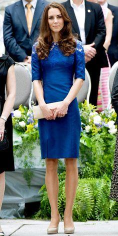 Kate Middleton in colbalt