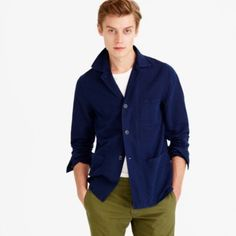 Inspired by vintage French workwear styles, this textured cotton-linen piece has the look of a shirt and the warmth of a lightweight jacket, making it an easy, versatile layer. It's also garment-dyed, which means each one will have a perfectly imperfect color and will softly fade over time. <ul><li>Cotton/linen.</li><li>Patch pockets.</li><li>Machine wash.</li><li>Import.</li></ul>